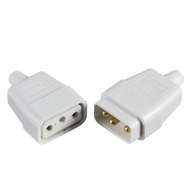 10 Amp Three Pin Cable Connector (White)