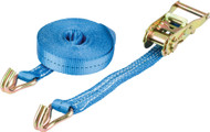 Warrior™ 1.5 Tonne x 25mm Ratchet Strap With Claw Hooks (8 Metre)