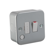 Metal Clad 13A Switched Fused Spur Unit With Flex Outlet