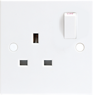 Standard 13A 1G DP Switched Socket