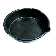 6l Black Plastic Oil Drain Pan