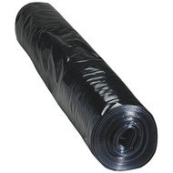 1000g (250 Micron) Black Polythene Sheeting (4m x 25m)