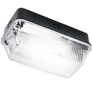 60W B22 Bulkhead with Clear Prismatic Diffuser