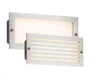 230V IP54 5W 3500K LED Recessed Brick Light With Brush Stainless Fascia