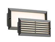 230V IP54 5W 3500K LED Recessed Brick Light Black Fascia