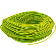 PVC Earth Sleeving 100 Metres, Green/Yellow (Earth)