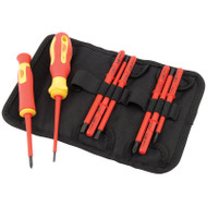 Draper 10 Pc VDE Interchangeable Blade Screwdriver Set