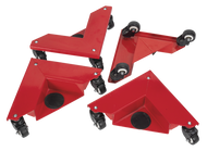 Corner Transport Dollies Set of 4 150kg Capacity