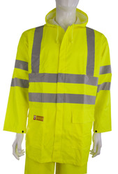 Click Fire Retardant Yellow Hi-Vis Jacket