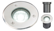 230V IP65 3W LED Ground/Deck Light- Cool White