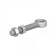 Zinc Gate Eye Bolts - Adjustable with 2 Nuts (Each)