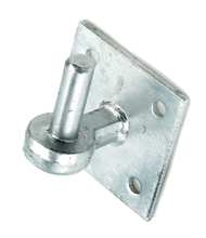"4 X 4"" Square Base Hooks on Plate Galvanised (Each)"