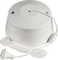 6 Amp One Way Pullcord Switch (White)