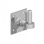 Adjustable Hook on Plate 19mm Pin, Galv