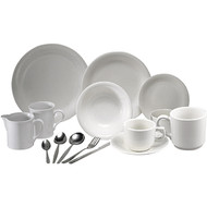 Crockery And Cutlery , White Set