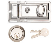 90mm Traditional Deadlocking Night Latch (Polished Chrome)