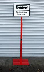 Temporary Heavy Duty Bus Stop Sign (Adjustable Upto 2 Metres)