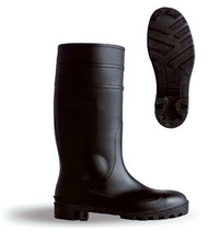 B-Brand PVC Safety Wellingtons Black