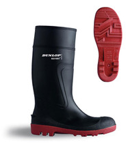 Dunlop Acifort Warwick H812511 Wellingtons (Black & Red)