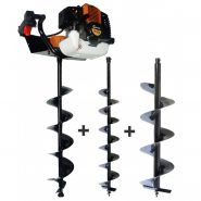 Lumag EB520G Petrol One Man Post Hole Borer / Auger Set