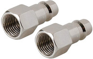 Euro Air Line Bayonet Female Thread Coupler 2pk