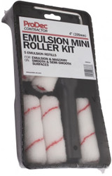 "4"" (100mm) Emulsion Paint Roller Set With 5 Refills"