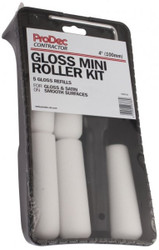 "4"" (100mm) Foam Paint Roller (Gloss) Set With 5 Refills"