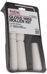 """4"""" (100mm) Foam Paint Roller (Gloss) Set With 5 Refills"""