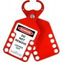 Aluminium Lockout Tag Hasp - 10 Hole