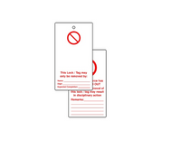 Lockout tags - 'Blank for user completion' (Double sided 10 pack)