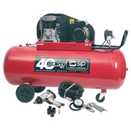 SIP 200l Belt-Drive TN3/200-SRB Air Compressor With 7pc Air Kit