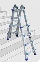 EN131 150kg Telescopic Folding Step/Ladder