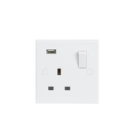 13A 1G Switched Socket with USB Charger