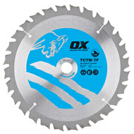 Ox TCTW-TF Thin Kerf Wood Cutting Circular Saw Blade
