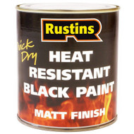 Heat Resistant Quick Drying Black Paint 250ml