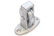 Upright Cast Pulley - Galv Cast Wheel Across The Plate