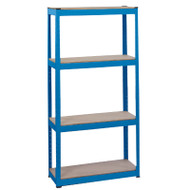 Draper 4 Shelves Steel Shelving Unit (L760 X W300 X H1520mm)