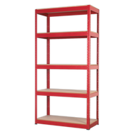 Racking Unit with 5 Shelves - 910 x 410 x 1805mm