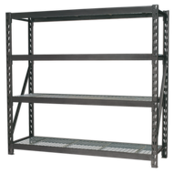 Heavy-Duty Racking Unit with 4 Mesh Shelves - 1955 x 600 x 1830mm