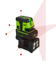 Imex LX25P Red Beam Line Laser 5 DOT 2 Line Laser Level