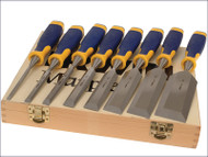 Irwin ProTouch Bevel Edge Chisel Set of 6 Plus 2 Chisels FREE