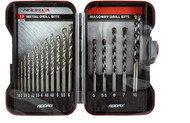 Addax 17pc Metal & Masonry Drill Bit Set