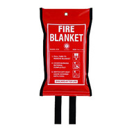 Fire Blanket with Soft Case, Size 1.2 X 1.2M