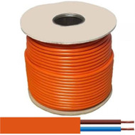 2 Core 0.75mm Orange Flex Cable (50 Metre Roll)