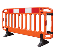 JSP Frontier® 2M Traffic Barrier Anti-Trip Black Feet - Orange