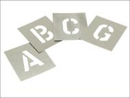 "Set of Zinc Stencils - Letters 2"" Walleted"