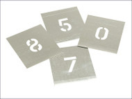 Set of Zinc Stencils - Numbers 2in Walleted