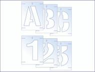 Plastic Letter & Number Stencil Kit