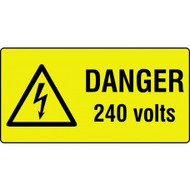 Danger Electrical Labels On Roll 75 x 25mm (250 Per Roll)