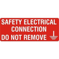 Safety Electrical Connection - SAV (96 x 38mm, 15 labels Per Sheet)